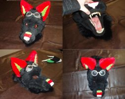 My first fursuit head by DrakonicKnight