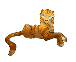 Speed art: Golden tiger by Anakonda1331