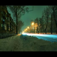 Nightly Kiev. My street by AlexGontar