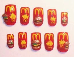 McDonald's Nails by The-Lady-of-Kuo