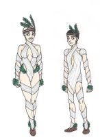 69th Hunger Games: District 7 Chariot Costumes by 13foxywolf666