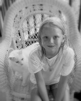 Kelsey with cat by Manlarr