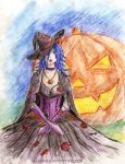 Halloween girl by Aldanika