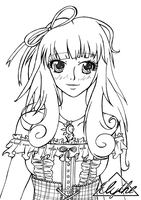 -FREE LINEART- Sweet Girl by Elythe