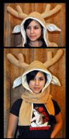 Deer Hood-Scarf by Mad-March