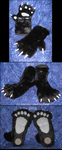 Panda hand and feet Paw set by VenHybrid