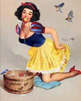 Snow White Elvgren Pin-Up By Renee by KittRen
