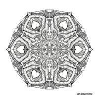 Mandala hand drawing 48 by Mandala-Jim