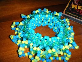 kandi:40 blue and green cuff by leggsXisXawsome
