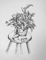 Plant in Ink by shiftandcapslock