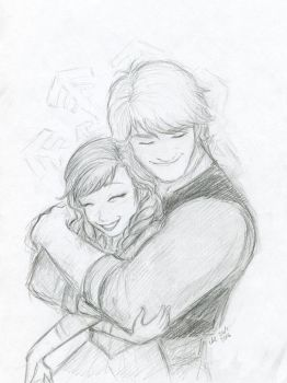 Frozen - Anna and Kristoff by anla