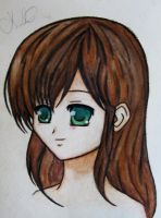 Watercolor Pencil Girl by VampireDragonGirl66