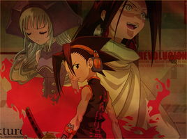 Wallpaper shaman king by HanaMephisto