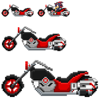 Shadow SASASR Motocycle Sprite by LucarioShirona
