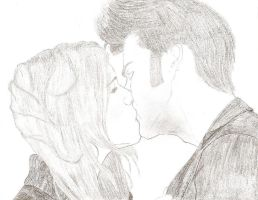 10th Doctor and Rose kiss by 19ana89