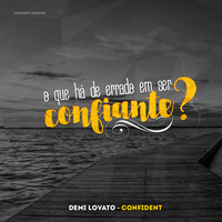 Confident - Demi Lovato (Facebook Banner Lyrics) by igormenegatti