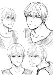KnB - Kise Ryouta sketches by Amanduur