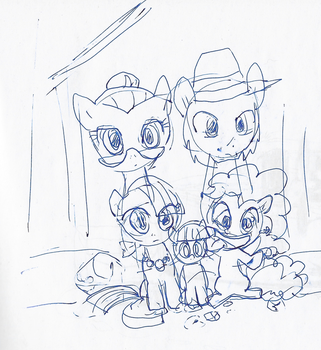 Pinkie Family by VioletSquiggles