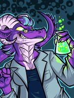 MAAAAAD SCIENTIST by SPAM-cat