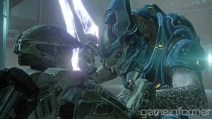 halo 4 chief and elite by XxDanl117xX