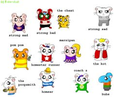 Homestar Hamsters by Risu-chan14