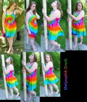 Tie Dye Dress Stock III by Melyssah6-Stock
