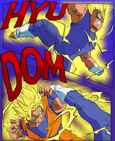Goku Vs Majin Vegeta by eggmanrules