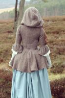 18th century Wool Coat with Hood by Rachyf1