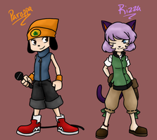 Kingdom Hearts - Parappa and Rizza by La-Mishi-Mish