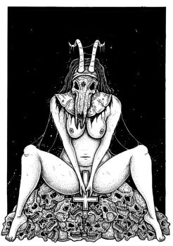 Satanic Nun Goat Whore by ayillustrations