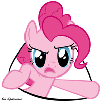Pinkie from a Hole by SirSpikensons