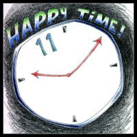 Happy Time + exclamation point by beatnik