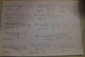 Russian Weapon Doodles by Shay-Tank-Dragon-41