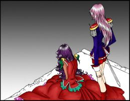 Anthy and Utena Colored by love1aya337