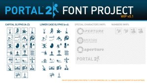 Portal 2 Font Project by ChubbsMcBeef