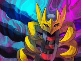 Giratina by Umbrielle
