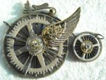 steampunk flying bicicle by TimelessCharm