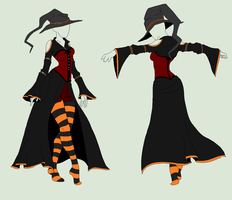 Outfit Adopt - Halloween Witch - SOLD by ShadowInkAdopts