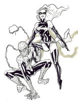 SPIDERMAN AND MS. MARVEL TEAM-UP by BagMan531