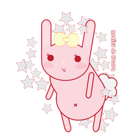 pink bunny by Lucora