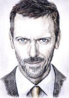 Hugh Laurie mini-portrait by whu-wei
