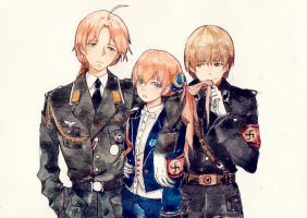 three in uniform~ by iiluk