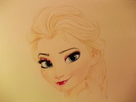 ELSA (disneys frozen) by ARTIEFISHEL79