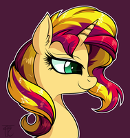 Sunset Shimmer Portrait by wildberry-poptart