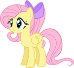 Fluttershy (With Ponytail) by Zacatron94