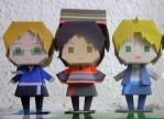 Latin Hetalia Papercrafts by 95mangaka