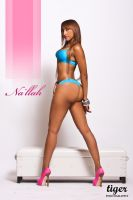 Na'llah with Blue Lingerie by tigerphotography