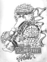 Sesame Street Fighter Big Bird by iambatgirl13