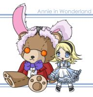 Annie in Wonderland by littleredren