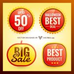 Halloween Discount Free Vector by vecree
